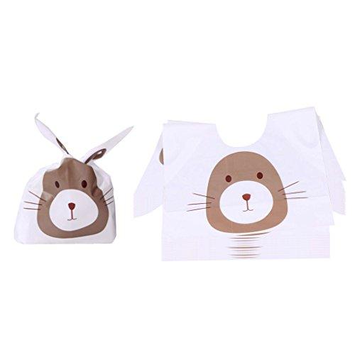 Muster Süßigkeit Tüten Beutel Plätzchen Gebäck Tütchen Bonbons Geschenk Verpackung für Kinder Geburtstag Baby Dusche Weihnachten Dekor - l (Süßigkeiten Taschen Für Baby-dusche)