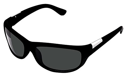YS Matte Black UV Protected Wrap Men's Sunglasses (BIKE Black Grey Wrap Single)  available at amazon for Rs.247