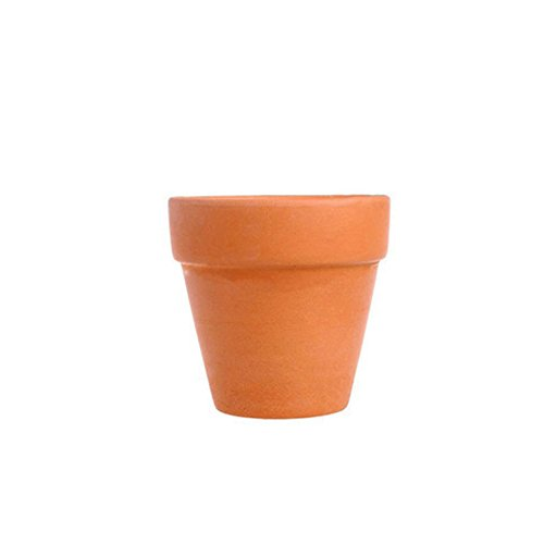 Sel-More Terracotta Töpfe, Clay Töpfe Keramik Keramik Übertopf Kaktus Blumentöpfe Sukkulente Topf abflussloch ideal für Pflanzen, Handwerk, Hochzeit, Home Decor, rot, 8CM*8CM -
