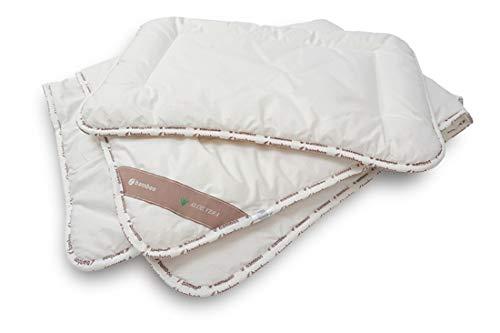 MoMika Bambus Kinder & Baby Decke mit passendem Kissen | 100 x 135 cm und Kissen 40 x 60 cm | Gesund and nachhaltig in den Schlaf |