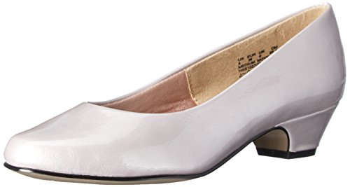 Soft Style Women's Angel II Dress Pump,Putty Elegance,10 M US Evening Haze Pearlized Patent