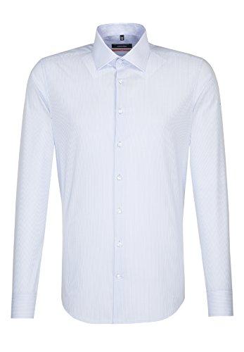 Seidensticker Slim Langarm mit Kent Kragen, Camicia Business Uomo Blu (Blau 12)