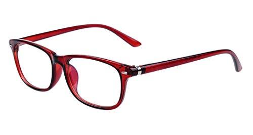 Flydo Retro Vintage Rahmen Rechteckig Linse Optische Stärke Rahmen Brillenfassung Business Brille (Damen Herren) Klare Linse Brillengestell
