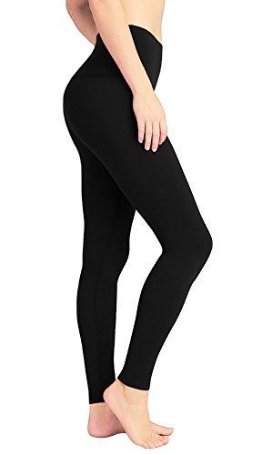 formende leggings deeptwist Yoga Hose für Damen Hohe Taille - Bauch Kontrolle Shapewear Workout Running Hosen Fitness Knöchel Full-Length Leggings mit Breiten Bund Schwarz, UK-DT4005-Black-4