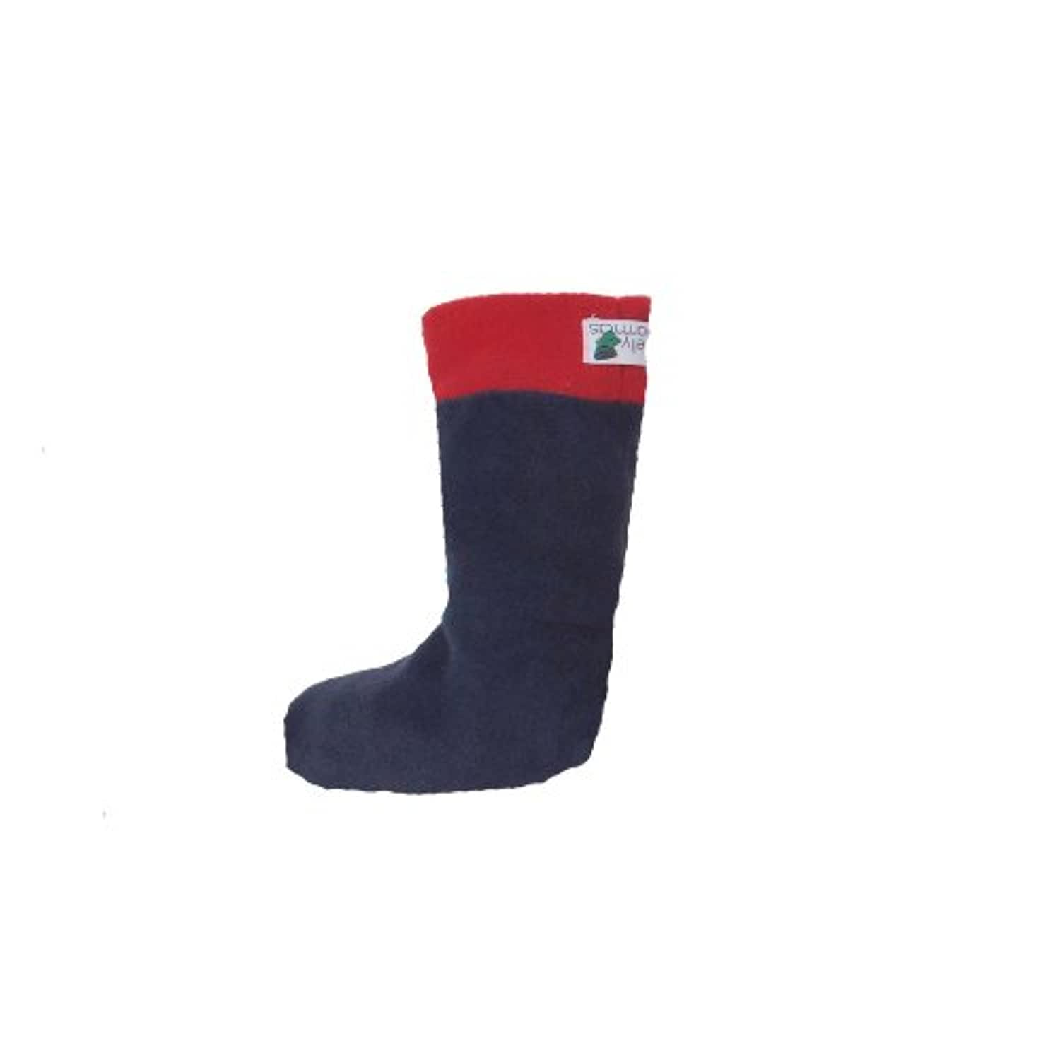 Childs WellyWarmas - Navy/Red - Size 1-3 - Age 7-8