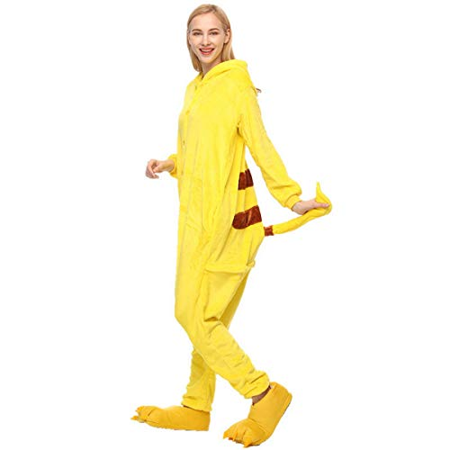 tüm,Jumpsuit Tier Cartoon Fasching Halloween Kostüm-Anzug Onesie Fleece-Overall Pyjama ()