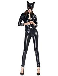 WWANGYU Traje De Disfraces Cat Cosplay Disfraz Carnaval Halloween Carnaval  Cosplay Masquerade Performance Teatro 2d0a57aabb96
