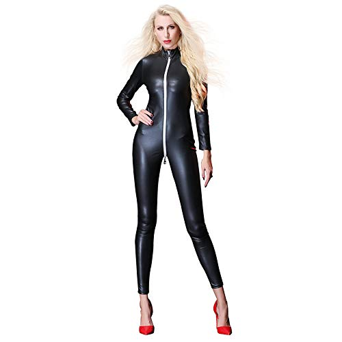 Black Wetlook Catsuit