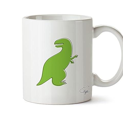 Hippowarehouse Dinosaure Vert Illustration Unisexshort T-shirt à manches 283,5gram Mug Cup, Céramique, blanc, One Size