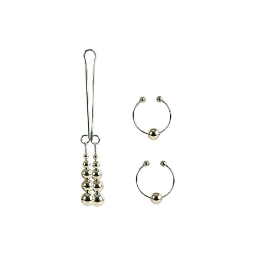 Nipple and Clitoral Non-Piercing Body Jewelry - Silber - Bruststimulator
