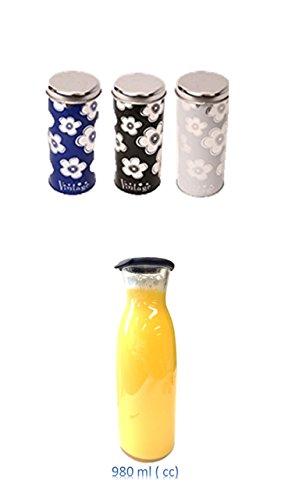 Kaffeepad Dose 3 Stück Kaffeepads Dose Pad Behälter verschiedene Designs + 1 Wasserkaraffe Glas 1,0 Liter mit Silikondeckel