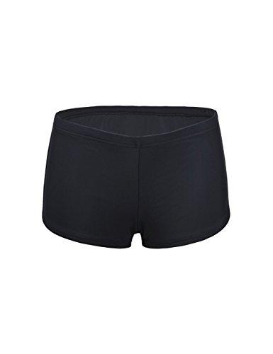 Nonwe Frauen Retro Blumen Pin Up Verstellbare Tankini Beachwear mit Bottom Shorts Grün
