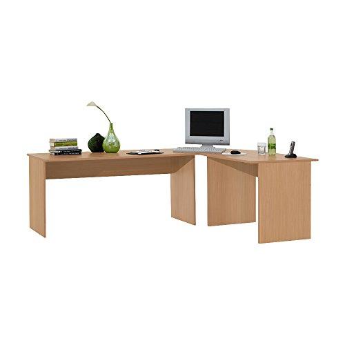 FMD Corner Desk Till, 205.0 x 76.0 x 155.0 cm, Beech