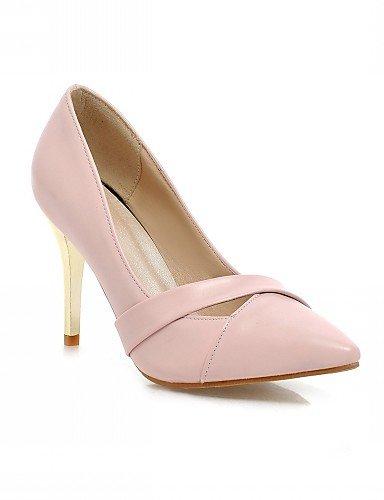 WSS 2016 Chaussures Femme-Bureau & Travail / Habillé / Décontracté-Noir / Vert / Rose-Talon Aiguille-Talons-Talons-Similicuir green-us10.5 / eu42 / uk8.5 / cn43