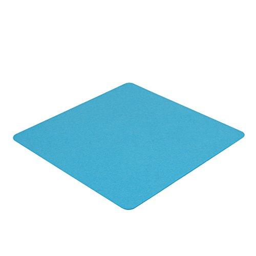 7even Filz Auflage 40 x 40 cm für z.B. Cube Hocker Blau - Einseitig 4mm