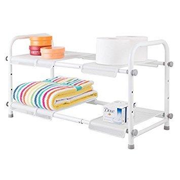 mDesign Mobile sotto lavabo con 2 scaffali - Sottolavabo lavandino ...