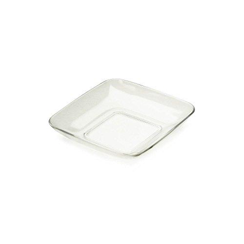 THALI Outlet Leeds®–50x Mini 6,3cm klar Mozaik Tasting Appetizer Teller–Starke verwendbar Hartplastik