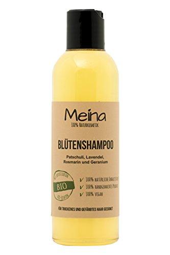 Meina – Shampoo mit Patschuli und Lavendel (1 x 220 ml) vegan Bio Shampoo mit Bio Mandelöl und Bio Kokosöl, ohne Silikone, Sulfate und Parabene, für Männer und Frauen – Naturkosmetik