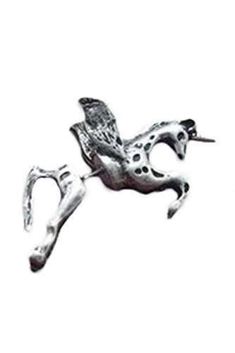 Pendiente - TOOGOO(R)Pendiente mujer del caballo del metal unicornio antiguo retro Clavo de oreja Joya de oreja (Plateado)