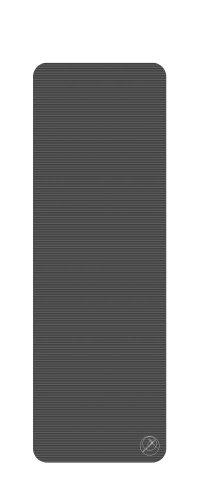 Trendy Sport ProfiGymMat, Trainings- und Therapiematte, 180 x 60 x 1,0 cm, mit Ösen, anthrazit