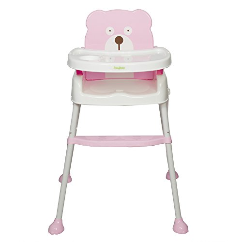 Baybee 5 In 1 Smart And Convertible High Chair Baby Feeding Chair (Pink)