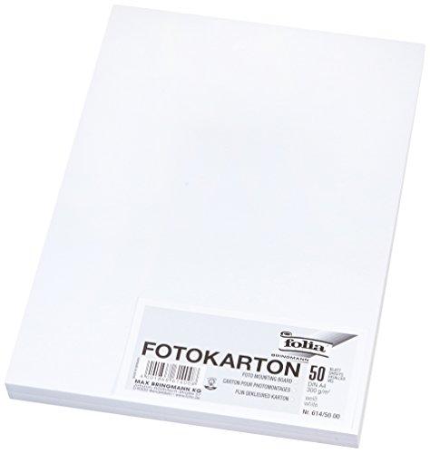 folia 614/50 00 Fotokarton (50 Blatt) weiß