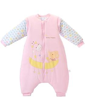 Chilsuessy Baby Schlafsack mit Beinen Warm gefüttert Winter Langarm Winterschlafsack mit Füssen 3.5 Tog
