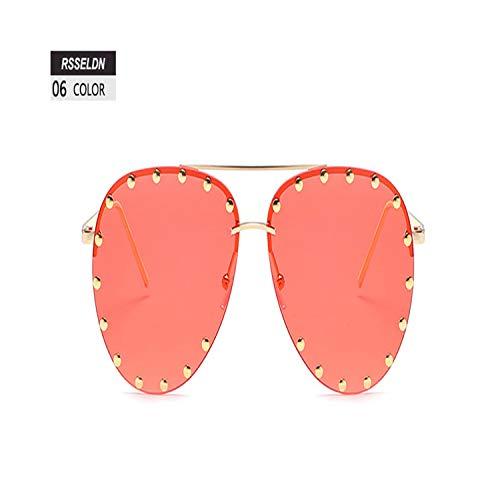 Sportbrillen, Angeln Golfbrille,Fashion Pilot Sunglasses Women Summer Green Pink Gradient Sun Glasses For Women Men Sunglass UV400 Metal Oculos De Sol 06 (Hochzeit Schüttung Loser Sonnenbrille In)