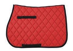 Pfiff 101534 Basicline VS Schabracke, Sattelunterlage, Full/Warmblut Rot
