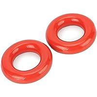 Ambithou Golf gewichteter Swing Ring – 2 Stück Golf Club Warm Up Swing Donut Gewichte Ring Taucherübung & Training, Rot