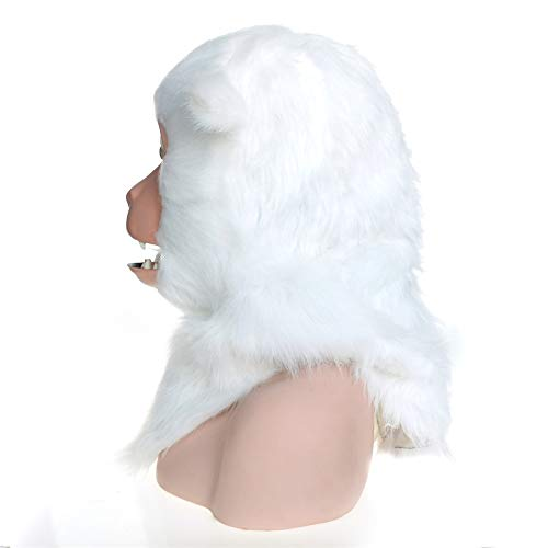 XIANGBAO-Maskenparty Faddish Realistische Handgefertigte Maßgeschneiderte Halloween Beweglichen Mund Maske Makaken Simulation Tiermaske (Color : White, Size : 25 * 25) (Tiger Halloween-make-up White)