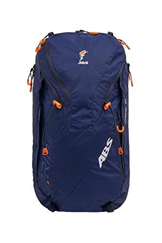 ABS Unisex- Erwachsene Lawinenrucksack Zip-On 32, Packsack für P.Ride Original und Vario Base Unit, Fach für Sicherheitsausrüstung, 32L Volumen, Ski-und Snowboardhalterung, Helmnetz, Deep Blue