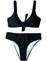 Walaka Bikini Femme 2 PièCes Taille Haute Maillot De Bain Femme Push Up  Rembourré Soutien- b026bba84795