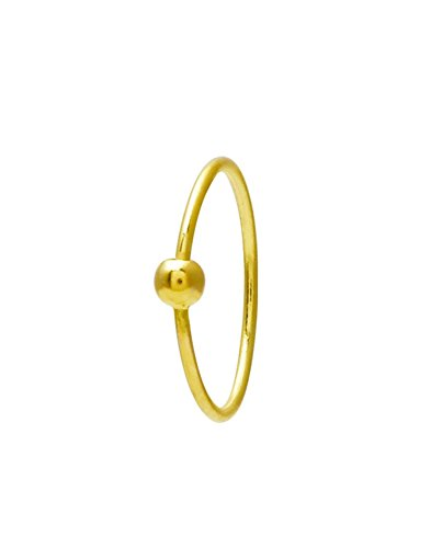 Gandhi Jewellers Shimmering Simple Plain Gold Ball Nose Ring. Ball Plain Shinny Gold Nose Ring.
