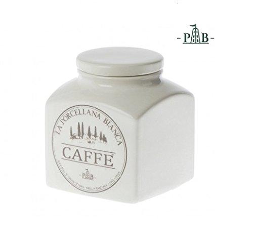 PORCELLANA Conserva à café en céramique recouvert récipient, Porcelaine, Multicolore, 0.1 x 0.1 x 0.1 cm