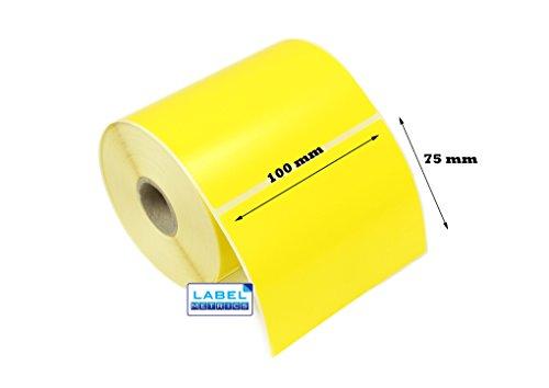 label Metrics 10.000100mm x 75mm gelb Thermodirekt Etiketten