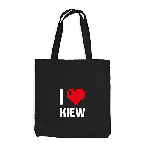 Pixel Ukraine Reisen I Herz Jutebeutel Kiew Love Schwarz Heart qP1wA