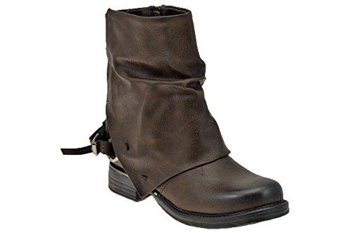 Koloski Texas Bottines Neuf Chaussures Femme Brun