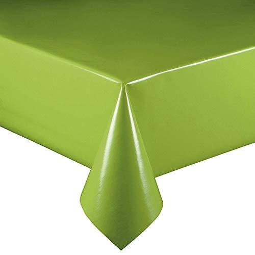 DecoHomeTextil Lacktischdecke Wachstuch Wachstischdecke Tischdecke Gartentischdecke Hellgrün Breite & Länge wählbar 110 x 140 cm Eckig abwaschbar Lebensmittelecht