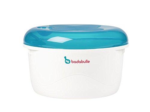BADABULLE Stérilisateur Micro-Ondes Bleu/Gris