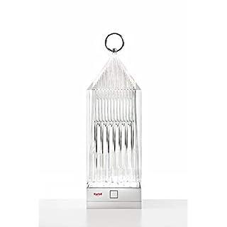 Kartell 9335B4 Lantern Lampe, Résine Acrylique, 1.2 W, Cristal, 9.5 x 9.5 x 31 cm