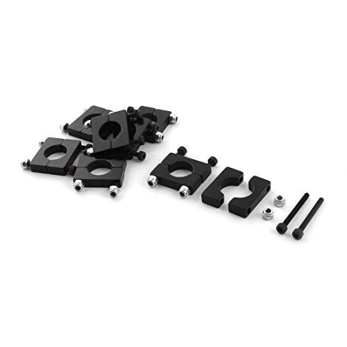 8 Stück 12mm Durchmesser Aluminiumklemmplatten-Klipp für Carbon-Faser-Rohr RC Acromodelle -