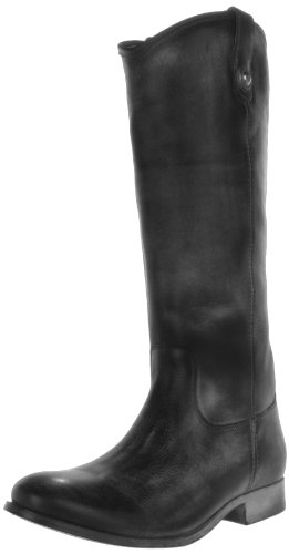 FRYE Women's Melissa Button Boot, Black Antique Soft Full Grain Leather, 6.5 M US - Melissa Frye Boot Button