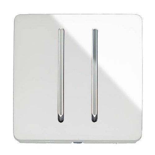 Trendi - Interruptor de luz artística moderna, brillante, 10 A, color blanco