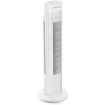 Farbe:Weiss Tower-Fan, Automatische 90/° Oszillation, Abschaltfunktion, 120 min Timer, 3 Geschwindigkeiten, 73cm H/öhe, sicherer Stand Elta Turmventilator TF-45.2