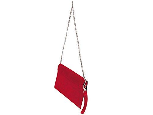 scarlet bijoux, Poschette giorno donna one size (Rosso)