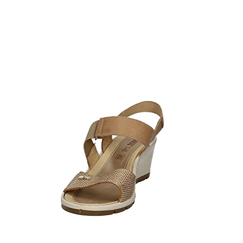 Enval 7988 Sandalo zeppa Donna Platino