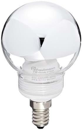 Paulmann - Globe 60 - 88075 - Ampoule ESL - 7 W E14 - Calotte argentée