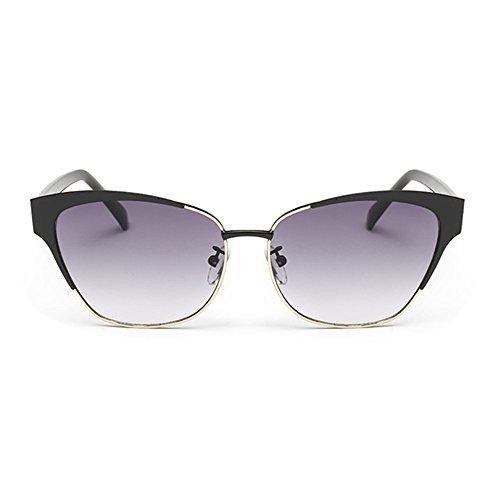 hiokay Lunettes de mode hommes et femmes New Style Grenouille Miroir couleur éclatantes Polygone Gradient lentilles lunettes de soleil Cadre Shopping Conduite Party de voyage personnalité Sport Rétro ZZmYfEg,