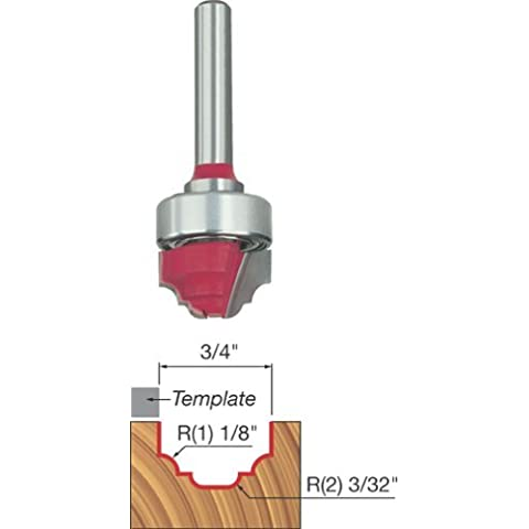 Freud 39-502 3/4-Inch Diameter Top Bearing Cove and Bead Groove Router Bit with 1/4-Inch Shank by Freud